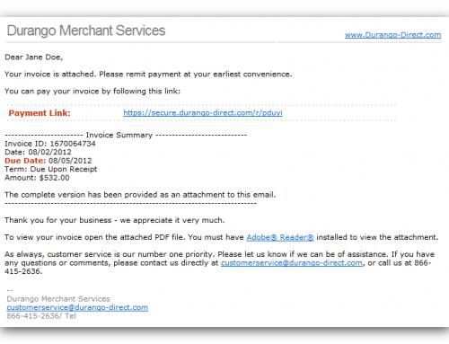Durango Merchant Services Payment Gateway Launches QuickBooks™ SyncPay